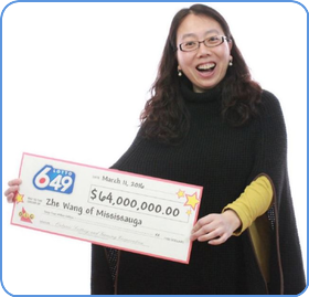 Biggest winner in Canadian Lotto 6/49