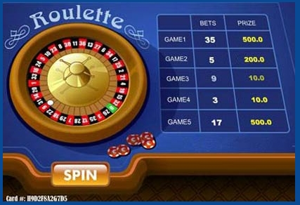 Example of the winning situation at Roulette scratch card game.