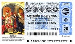 Spanish El Gordo Christmas lottery ticket 2006