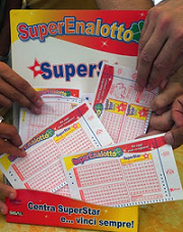 Superenalotto SuperStar blank coupons playslips.