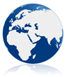 world globe blue icon
