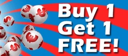 Buy lotto ticket online and get second for free.