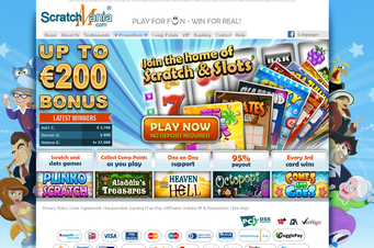ScratchMania home-page view graphic