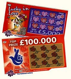UK National Lottery Traditional Paper Scratch Cards