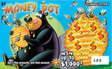 Illinois Lottery Money Pot Scratch Off Card Instant Game.