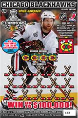 Illinois Lottery Chicago Blackhawks Scratch Off Card Instant Game.