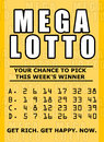 printed lottery ticket icon