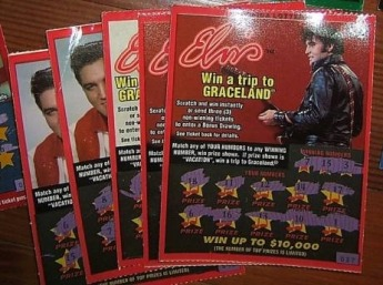 Elvis Presley Graceland printed scratch card