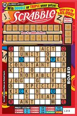 Illinois Lottery Scrabble Scratch Off Card Instant Game.