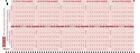 New York Lotto blank coupon playcard